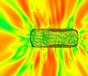 Schalldruckverteilung Fahrzeugoberfläche