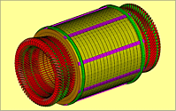 Schwingungsanalyse Generator Stator